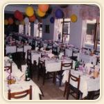 Sala da pranzo della Pensione Maria del Giglio anni 60